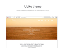Ubiku one page template