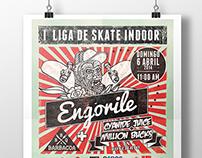 """Engorile """"I liga skate indoor"""""""
