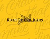 Hand Lettering for Rivet de Cru Jeans / L.A,