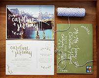 Caroline + Jeremy   Invitations