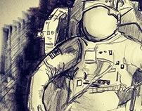 S P A C E sketch