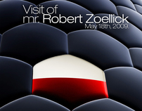 mr Robert Zoellick visit - promo materials