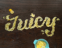 Juicy Lemon Food Typography