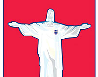 My England 2014 World Cup Poster