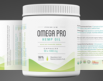 Omega Pro Hemp Oil - Packaging