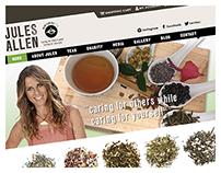 Jules Allen Tea Website, UX Design & Branding