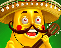 "Character for the package of crisps ""Nachos"""