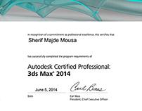 Sherif Mousa / Autodesk Certified Professional 3dsMax.