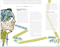 Two double-sided illustrations for the AOK Magazine
