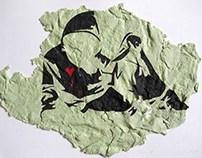 Banksy hoodie with knife
