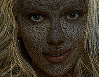 Scarlett Johansson typography portrait