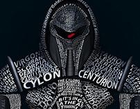 Cylon Centurion typography portrait