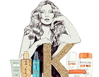 Kerastase 50th Anniversary with Kate Moss