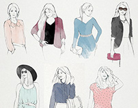Fashion Illustrations for TenEstilo website