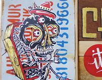 Paintings, Nasty Goreng Exhibition. The Yok x Sheryo