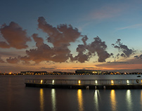Sunset at Pandan Reservoir in Singapore