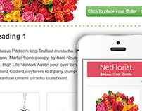 Online Flower Email Newsletter