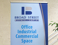 Roll-up banner for Broad Street Business Complex