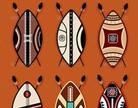 9 Masai Vector Shields