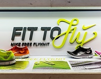 Nike Flyknit SU/FALL '13 in-store graphics