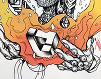 Ignis (Fire)  / Illustration & Print Design