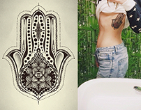 Hamsa - design for tattoo