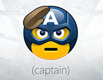 Captain America Skype Emoticons