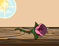 Table of Roses Illustration