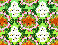 TROPICAL FLAMINGO TEXTILE