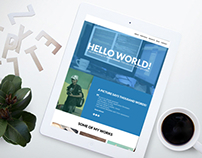 Flat Personal Site template # 2