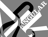 """Angular/Curvilinear"" Typography Study"