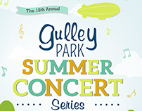 Gulley Park: Summer Concert Series Poster
