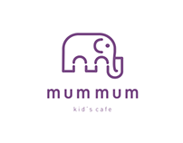 Mum Mum kid's cafe logo design