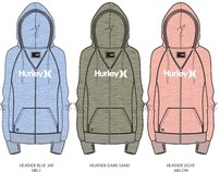 Hurley Winter 2012 Girl's One & Only Heather Zip
