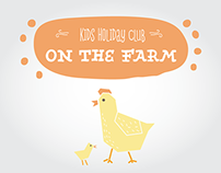 Kids Holiday Club - On the Farm - Promotional Flyer