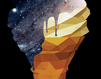 Melted Galaxy Cone