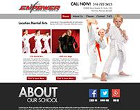 Empower Martial Arts Website Concept