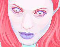 Pink Hair Portrait
