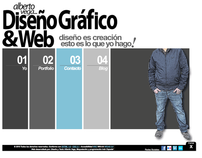 "Alberto Vega ""Design & Web"" Personal Site"