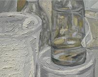 óleos en el taller