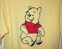 Child's Sweatshirt Hand Painted w/ POOH