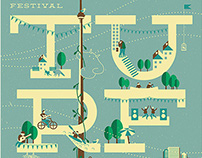 Toronto Urban Roots Festival, screen print poster