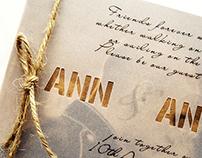 Ann's Paperie Wedding line