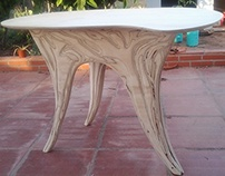 Forest tables - sand sculpted marine plywood