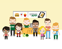Illustrations for the Dutch McDonald's app