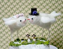 Love Birds - Custom Wedding Cake Topper
