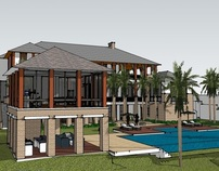 Florida villa Sketchup model