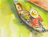 Watercolours of Thailand