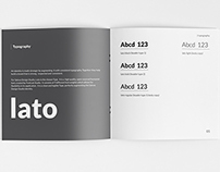 Identity Guidelines Book Visualization