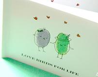 Love Birds for Life - Wedding Favor Mini Book
